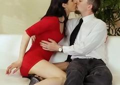 TS hottie Stefani Soul takes a gargantuan cock