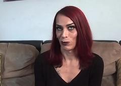 Casting mature portable radio masturbates her hard gumshoe