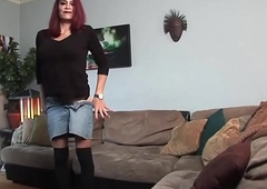 Mature crystal set cocksucking on her knees