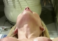 Shegirl with big prick shoots ball cream load all over her innards