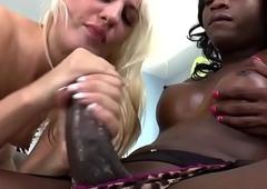 Hailey Holiday fucks a black T-girl - Shemale Idol