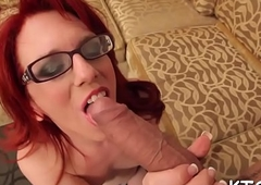 Shemale babe gets arse tunnelled