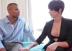 Busty ghetto-blaster doggystyled helter-skelter interracial a handful of
