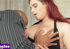 Bigtitted redhead tgirl interracially screwed