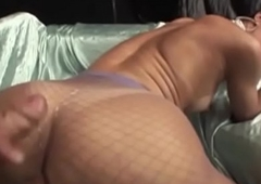 Jizzing shemales getting fucked right into an asshole