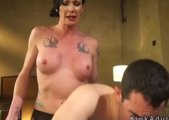 Transsexual stepmom anal fucks her guy