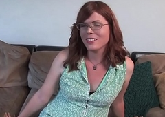 Perforator trans amateur milks on casting couch