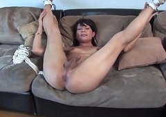 Casting tranny dickblowing coupled with masturbating