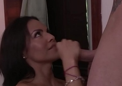 Sensual ladyboy gets palpate and gets anal opening drilled after engulfing dig up
