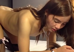 Inexpert Ladyboy Feya Gets Nailed