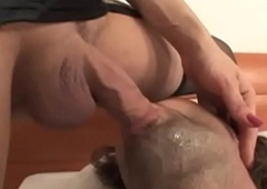 Handjob loving trannies spilling loads of semen