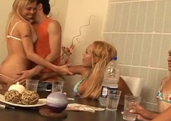 Lady-boy group assfucking untrained lover