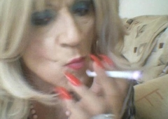 T bird smoking and wanking