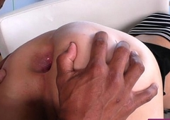 Pretty shemale anal fucked by black supplicant