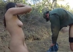Gorgeous shemale gives a blowjob hardcore Mexican corps patrol agent has