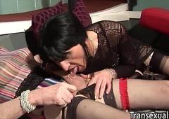 Real amateur older trannies making out