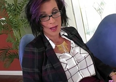 Big boobs grown up shemale analyzed by huge black cock