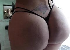 Glam latin chick ts twerking her big ass