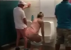 tranny peeing vulnerable toilet
