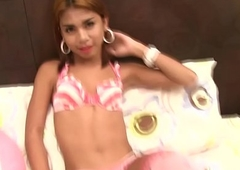 Thai Legal age teenager Ladyboy Sunny Bareback