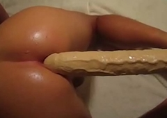 Enormous Sex tool In Greased Shemale Pest