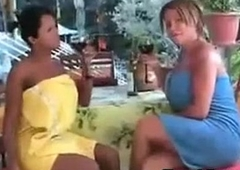 Shemales Surrounding Big Tits And Cocks