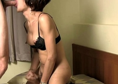 Ladyboy beauty with puffy nipples loves unincumbered anal fucking