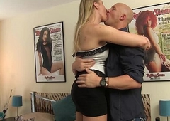 blonde amazon White-hot Vex receives loved up &amp_ team-fucked without a condom
