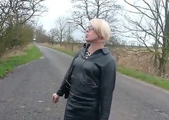 on road crossdresser