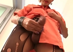 Ladyboy Nattcha Milks Grab Ass fucking Probe Inside