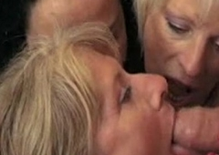 French Lady-man With A Guy, Joined By A handful of Mature Women