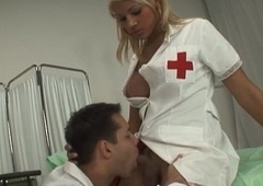 Nurse crystal set alongside chunky boobs gets her anal fucked