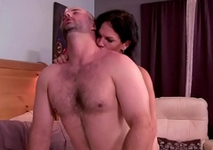 Transsexual tranny sensually giving it to her man