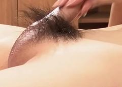 Ladyboy Tai Strokes Hairy Detect