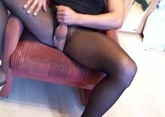 ts lora fetish black nylon