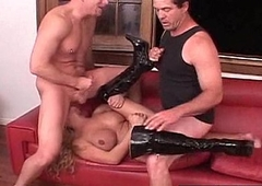 Long White Dick Roughly Copulates Her Pink Pussy 27