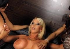 Enormous bosom beauteous complain Alura Jenson fuckfest with trannies