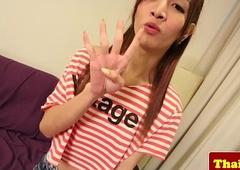 Thai skinny shelady with braces jerks