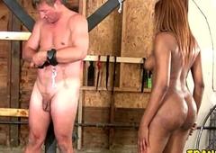 Slave Sucking Tranny Cock
