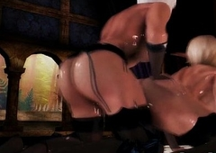 Ladyman 3d manga Princess bigcock tittyfucked and fucked right into an asshole
