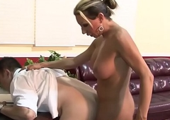 Tgirl face pumping cum