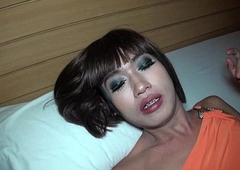 Ladyboy Kon Bareback Urinate and Cum