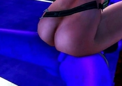 3D babe rides a blue shemale monsters hard horseshit