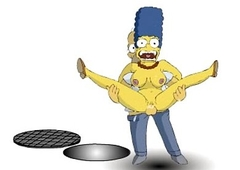 The Simpsons : homer and marge Lady-love xxx