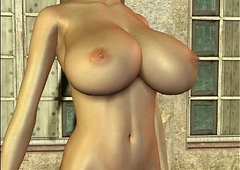 3D Busty Blonde with a huge weasel words