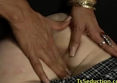 Tranny copulates guy and makes him jizz