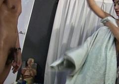 Thai Ladyboy Doctor Examines Flannel