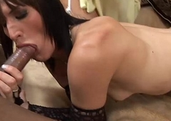 Fellatio with the addition of rimming session with two lady-mans